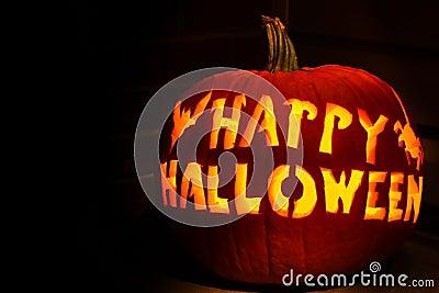 Happy Halloween Jack O Lantern Pumpkin