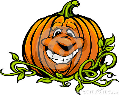 Happy Halloween Jack-O-Lantern Pumpkin Cartoon