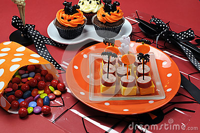 Happy Halloween party table