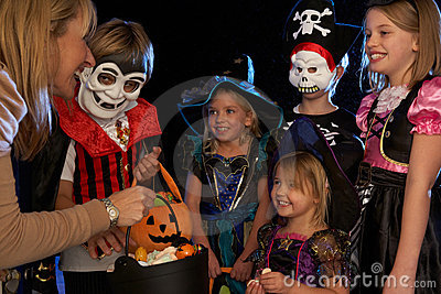 Happy Halloween party trick or treating