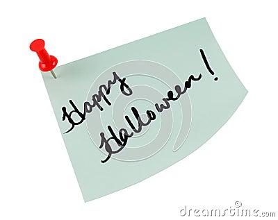 Happy halloween post it note