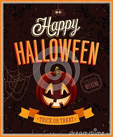 Happy Halloween Poster.