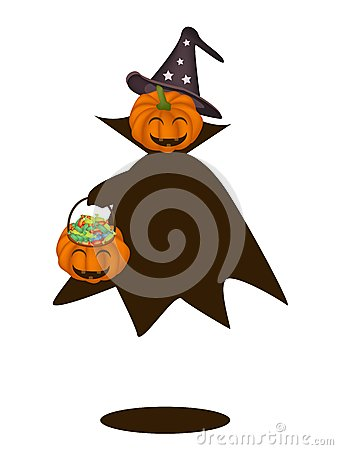 Happy Halloween Pumpkin with Candy Basket