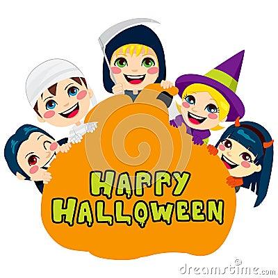 Happy Halloween Pumpkin Kids