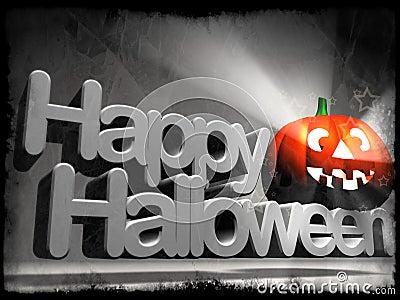 Happy Halloween pumpkin logo