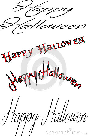 Happy Halloween sign collage