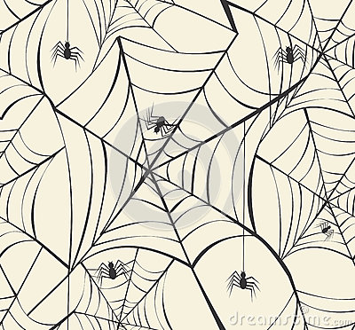 Free Happy Halloween Spider Webs Seamless Pattern Background EPS10 Fi Royalty Free Stock Photography - 33609057