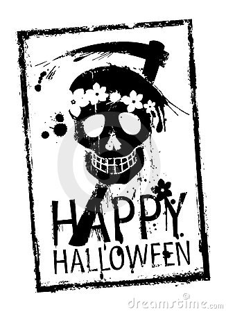 Happy Halloween stamp.