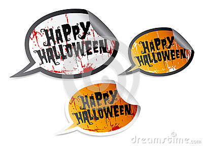Happy Halloween stickers