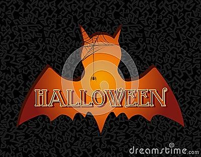 Happy Halloween text spooky vampire illustration EPS10 file.