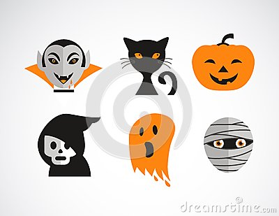 Happy Halloween vector set