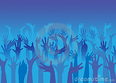 Happy hands vector