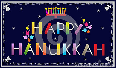 Happy Hanukkah Logo Stock Photos - Image: 17382163