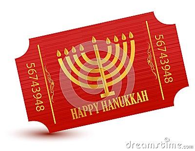 Happy hanukkah event ticket