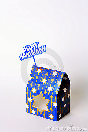 Happy Hanukkah Gift Box and Sign