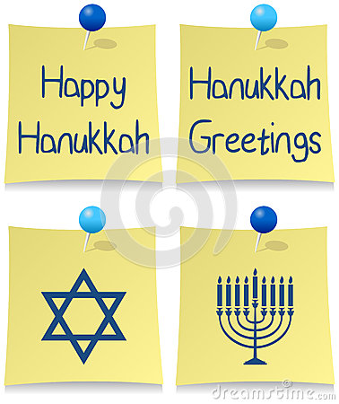 Happy Hanukkah Post It Set