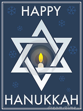 Happy Hanukkah Star Of David