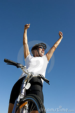 Free Happy Healthy Female Cyclist Stock Photo - 22837620