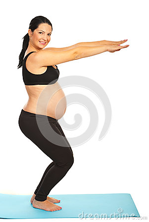Happy healthy pregnant woman