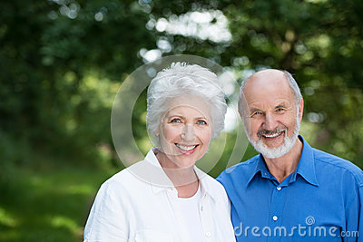 Happy healthy senior couple