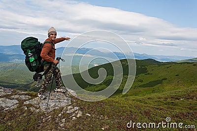 Happy hiker.