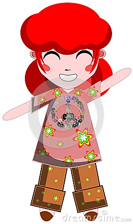 Happy hippie girl