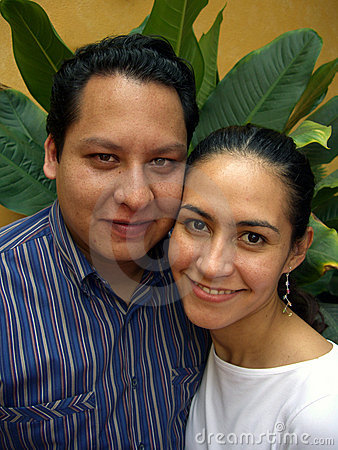 Happy Hispanic Couple-Vertical