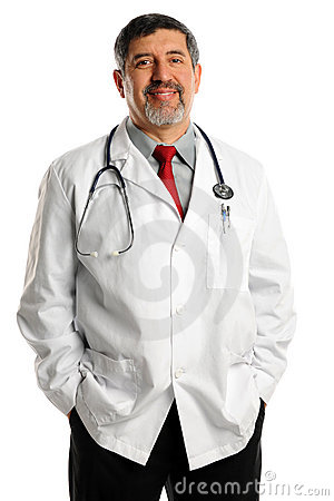 Happy Hispanic Doctor
