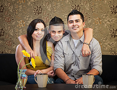 Happy Hispanic Family