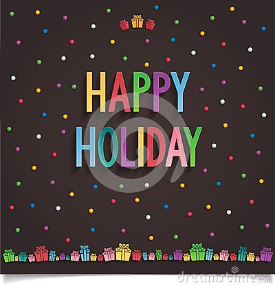 Free Happy Holiday Card With Gift And Letter In Sweet S Stock Photography - 36065072