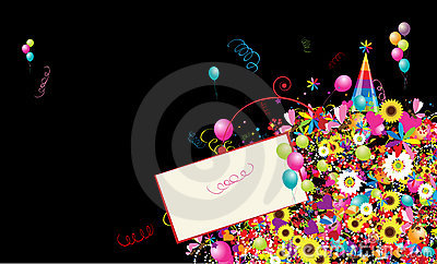 Happy holiday, funny background with balloons