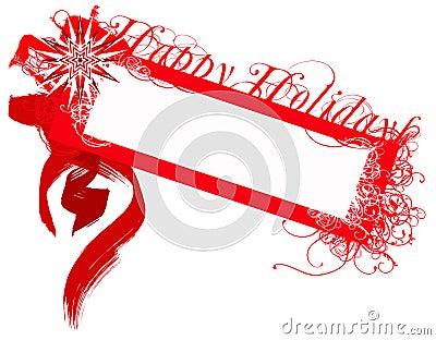 Happy holidays badge