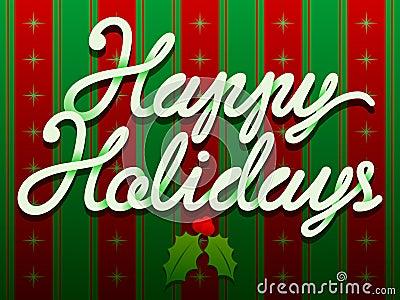 Happy Holidays Christmas Text