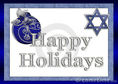 Happy Holidays Jewish Greeting Card