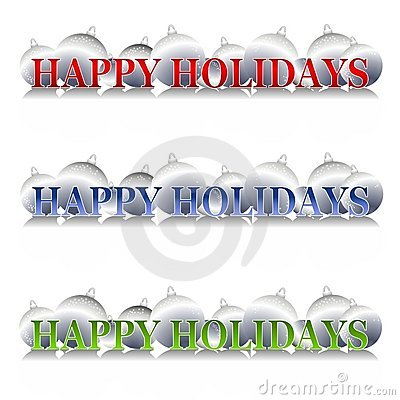 Happy Holidays Ornaments Logo