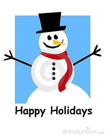 Happy Holidays Snowman