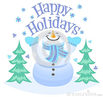 Free Happy Holidays Snowman Royalty Free Stock Photo - 33801505