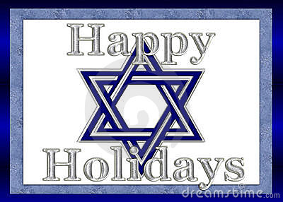Happy Holidays Star of David Background