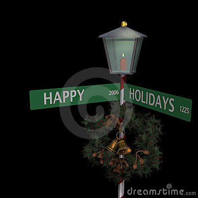 Happy Holidays Street Sign