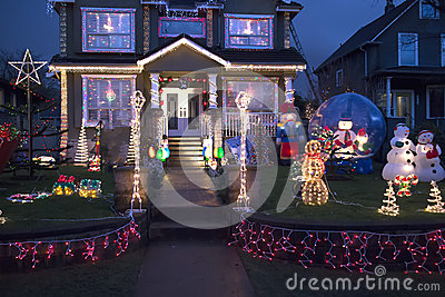 Happy home decked out for christmas