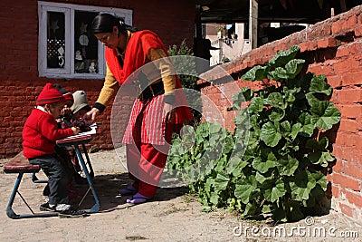 Happy Home School in Kathmandu Editorial Photography