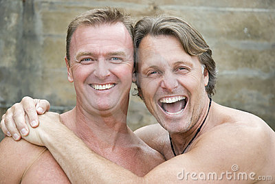 Happy homosexual couple.