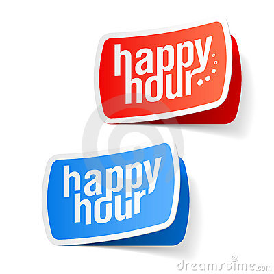 Happy hour labels