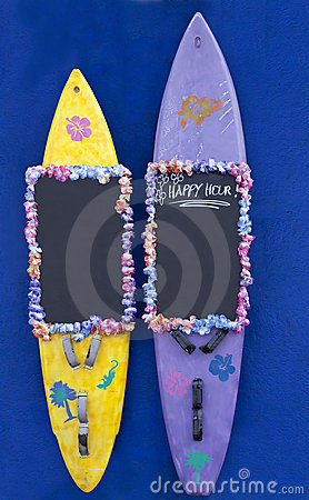 Happy Hour, offer on surfboards