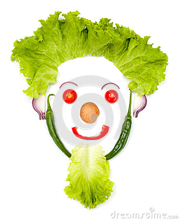 Free Happy Human Head Made Of Vegetables Royalty Free Stock Photo - 58180835