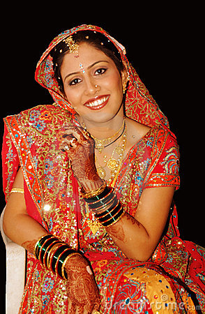 Happy Indian Bride