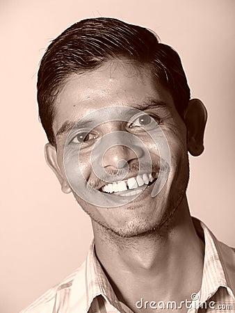 Happy indian man