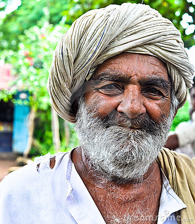 Happy Indian villager Editorial Photography