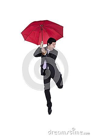 Happy insurance agent