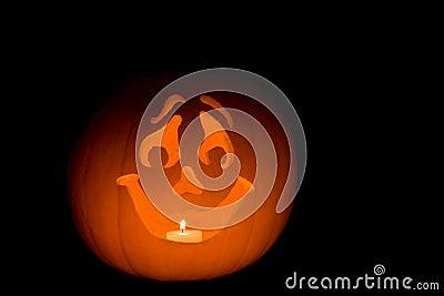 Aninimal Book: Happy Jack-O-Lantern Stock Image - Image: 6451131